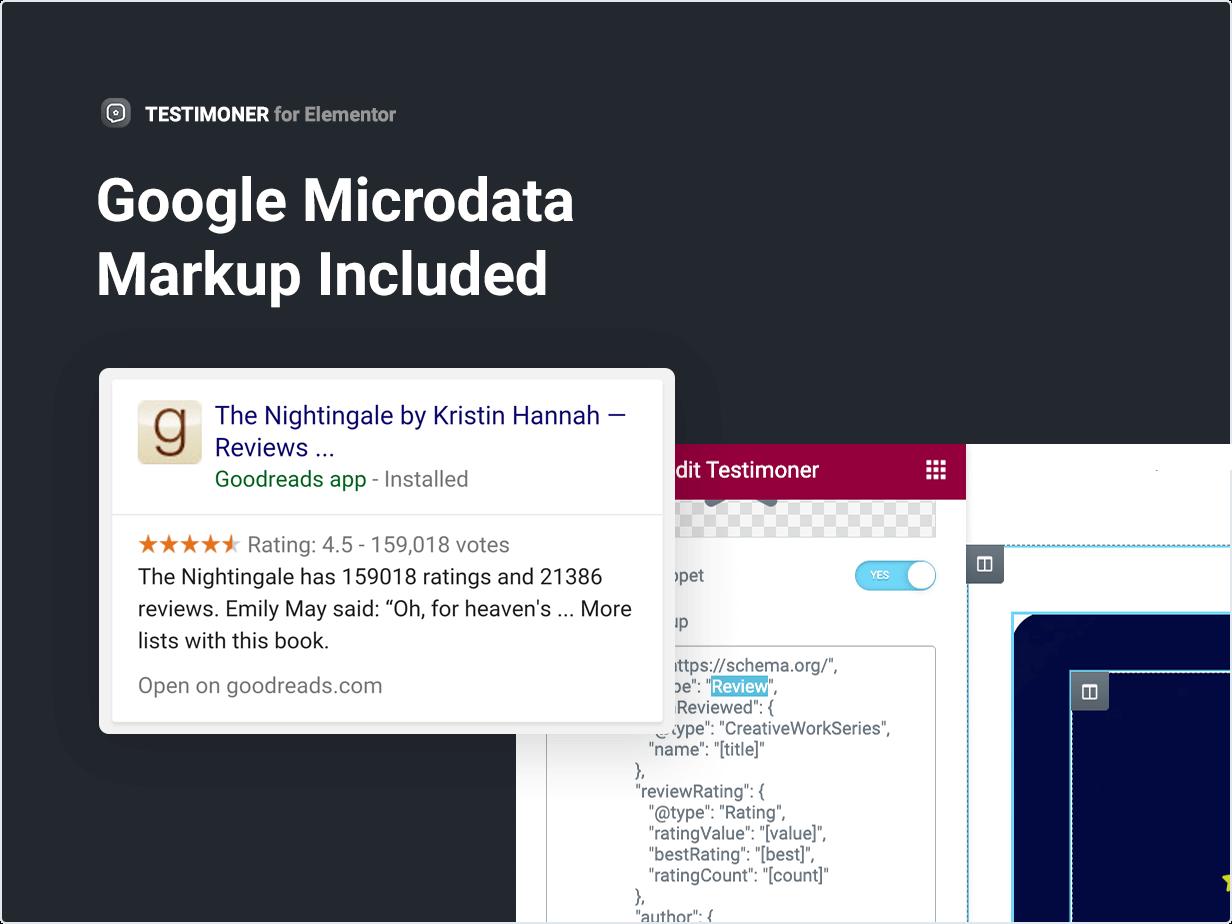 Google Microdata Markup Included