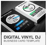 Serato Digital Vinyl DJ Business Card PSD template