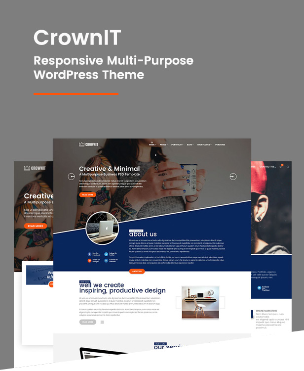 CrownIT - Responsive Multi-Purpose WordPress Theme