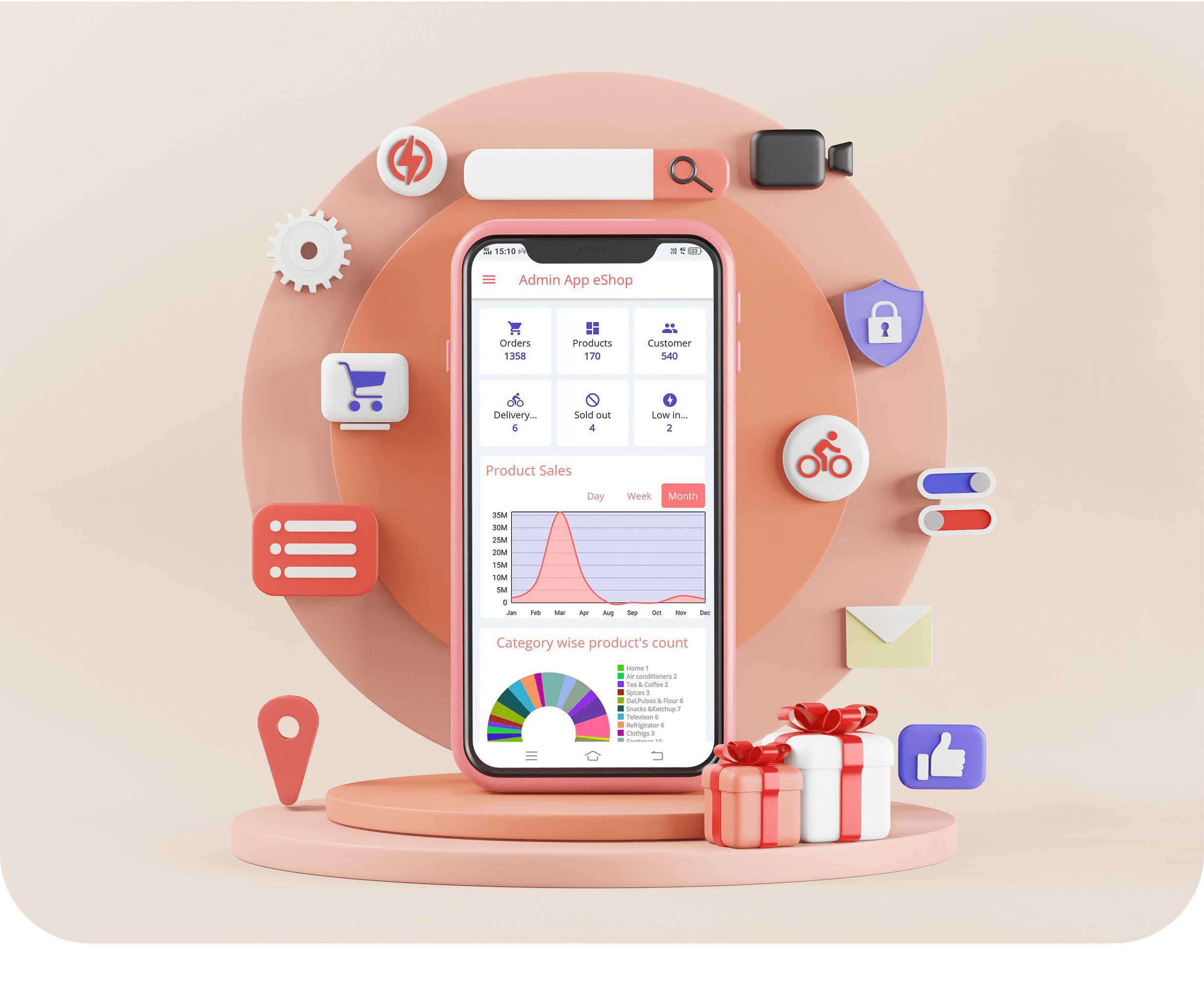 eShop - Ecommerce Admin / Store Manager app - 1