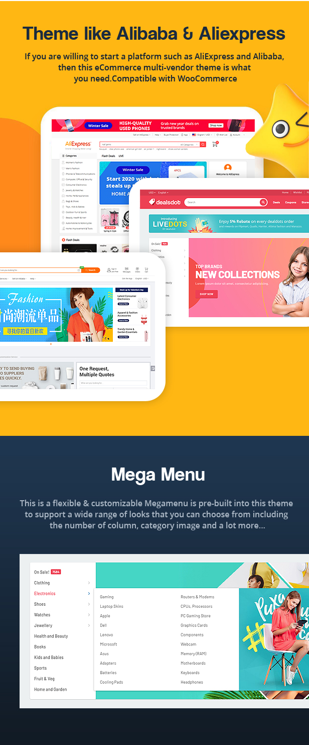 Dealsdot – Multi Vendor Marketplace, Deals, Coupons, Discounts & Promo Codes Theme