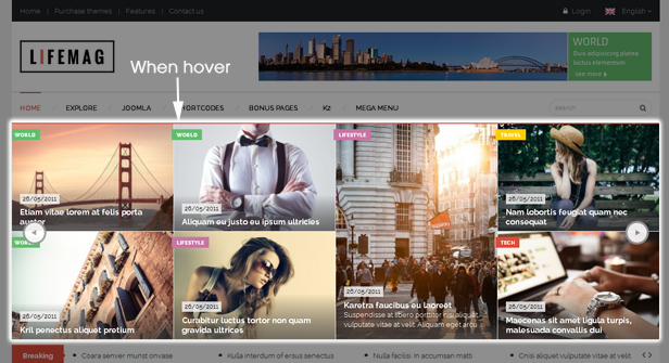 SJ LifeMag - Powerful Grid Homepage Slider