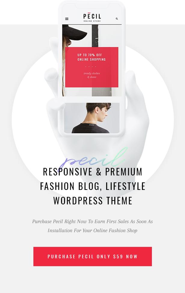 Pecil Fashion WordPress Theme