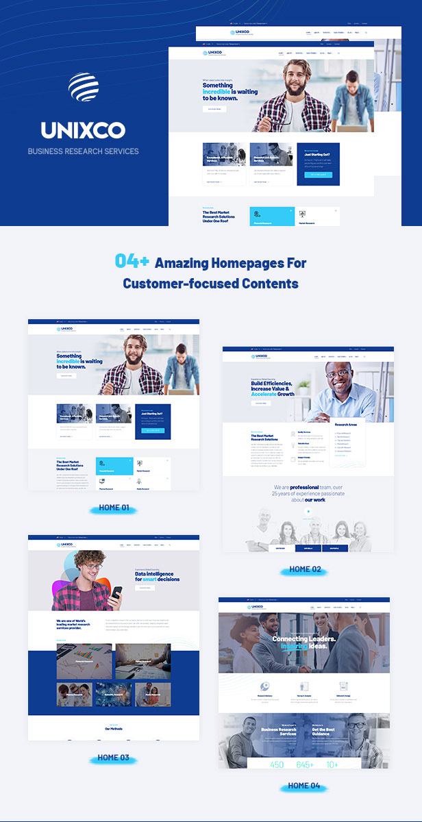 Business Consulting WordPress Theme - 08+Homepages