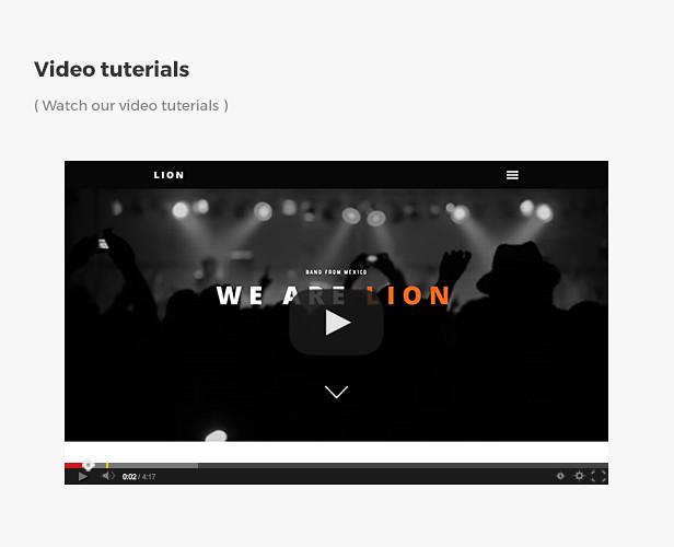 Lion - Music, DJ, Band Muse template  - 7