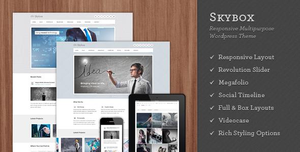 Skybox - Responsive Multipurpose WordPress Theme - 4