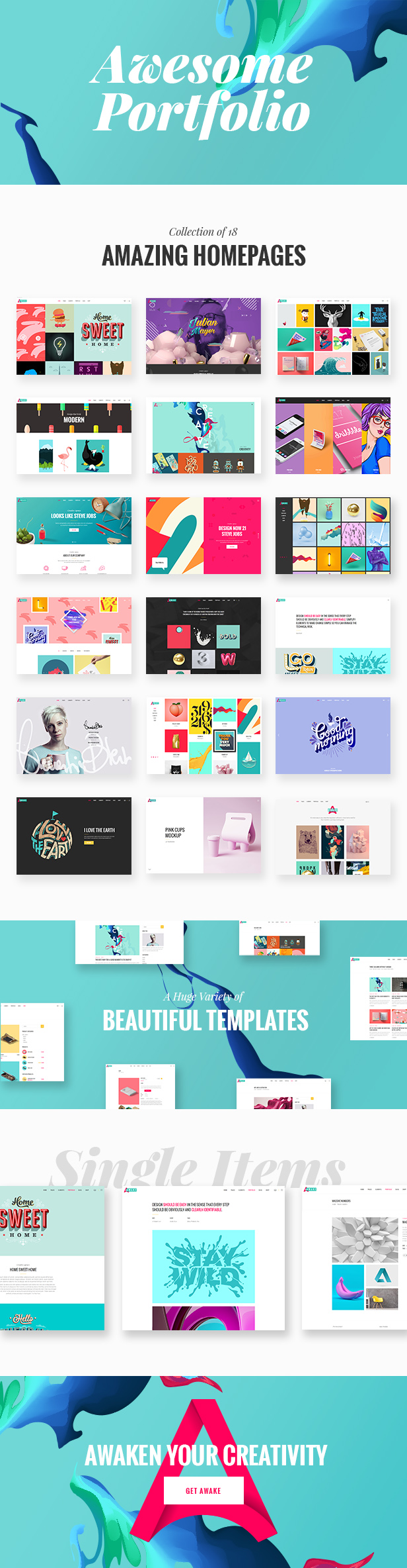 Awake - A Vibrant and Fresh Portfolio Theme - 1