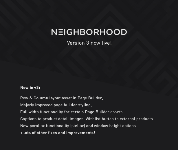 Neighborhood v3.0