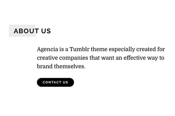 Template Agencia Tumblr Theme Blogging