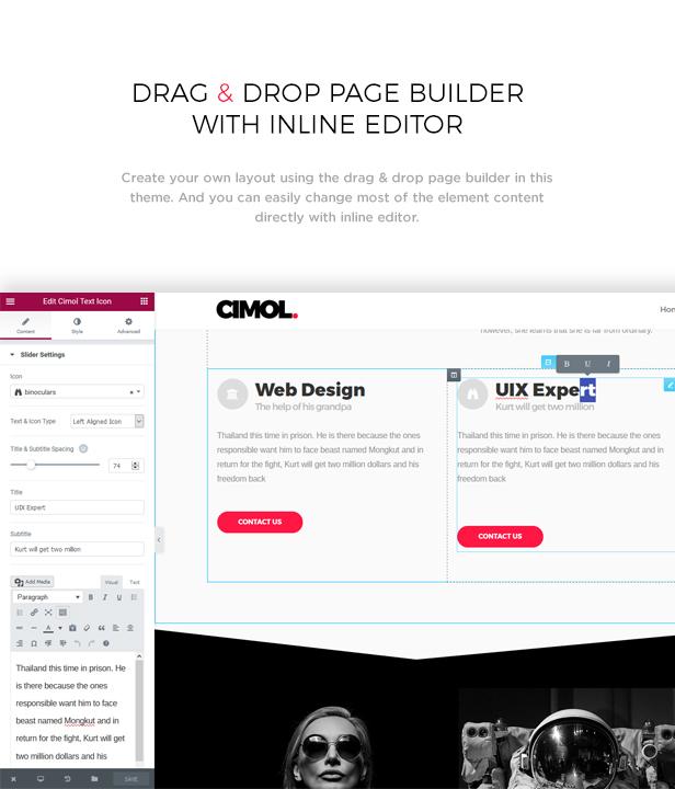 Cimol - Responsive One Page & Multi Page Portfolio Theme - 3