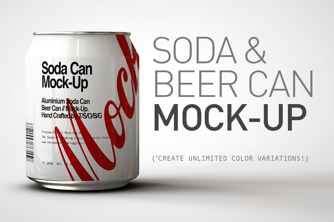 Mini Soda Can - Beer Can Mock-Up