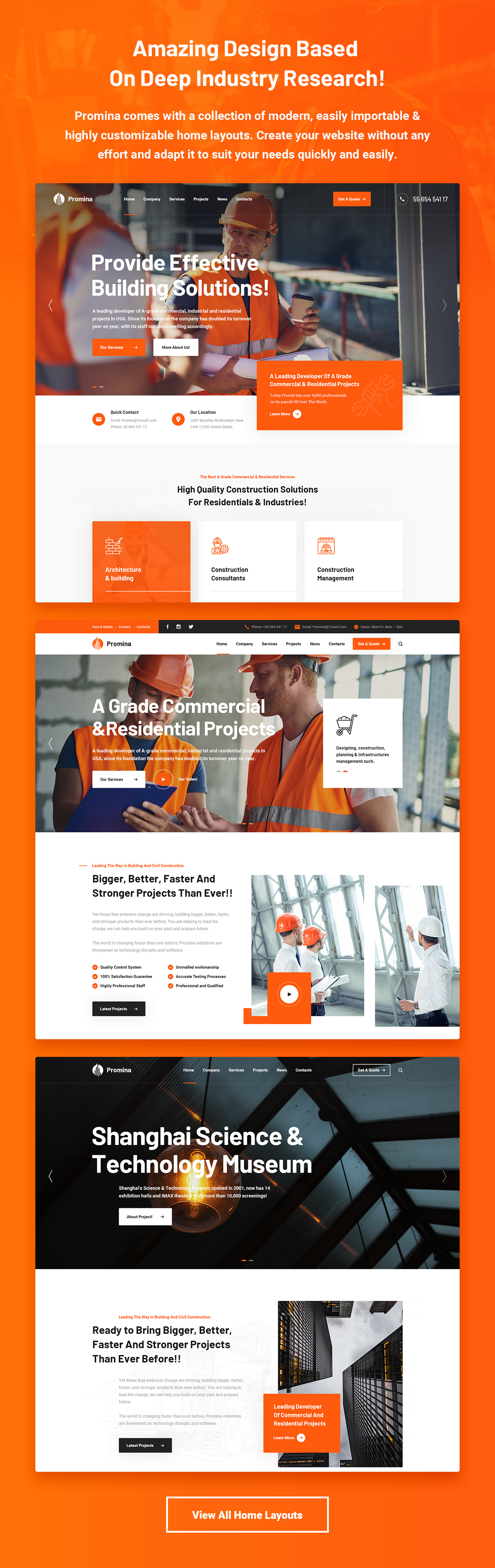 Promina - Construction Building & Architecture Business WordPress Theme - 6
