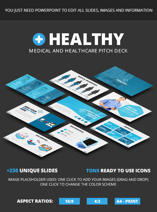 Healthy - Medical and Healthcare Pitch Deck
