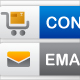 Web 2.0 Button  (custom Icon included) - GraphicRiver Item for Sale