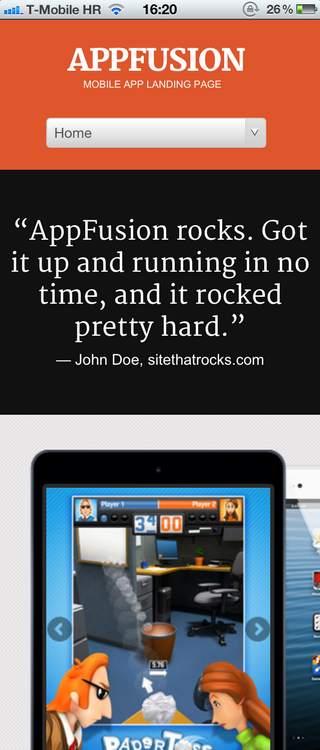 AppFusion on iPhone