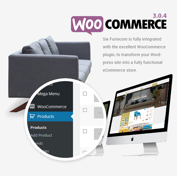 Responsive Furniture WooCommerce WordPress Theme - Woocommerce