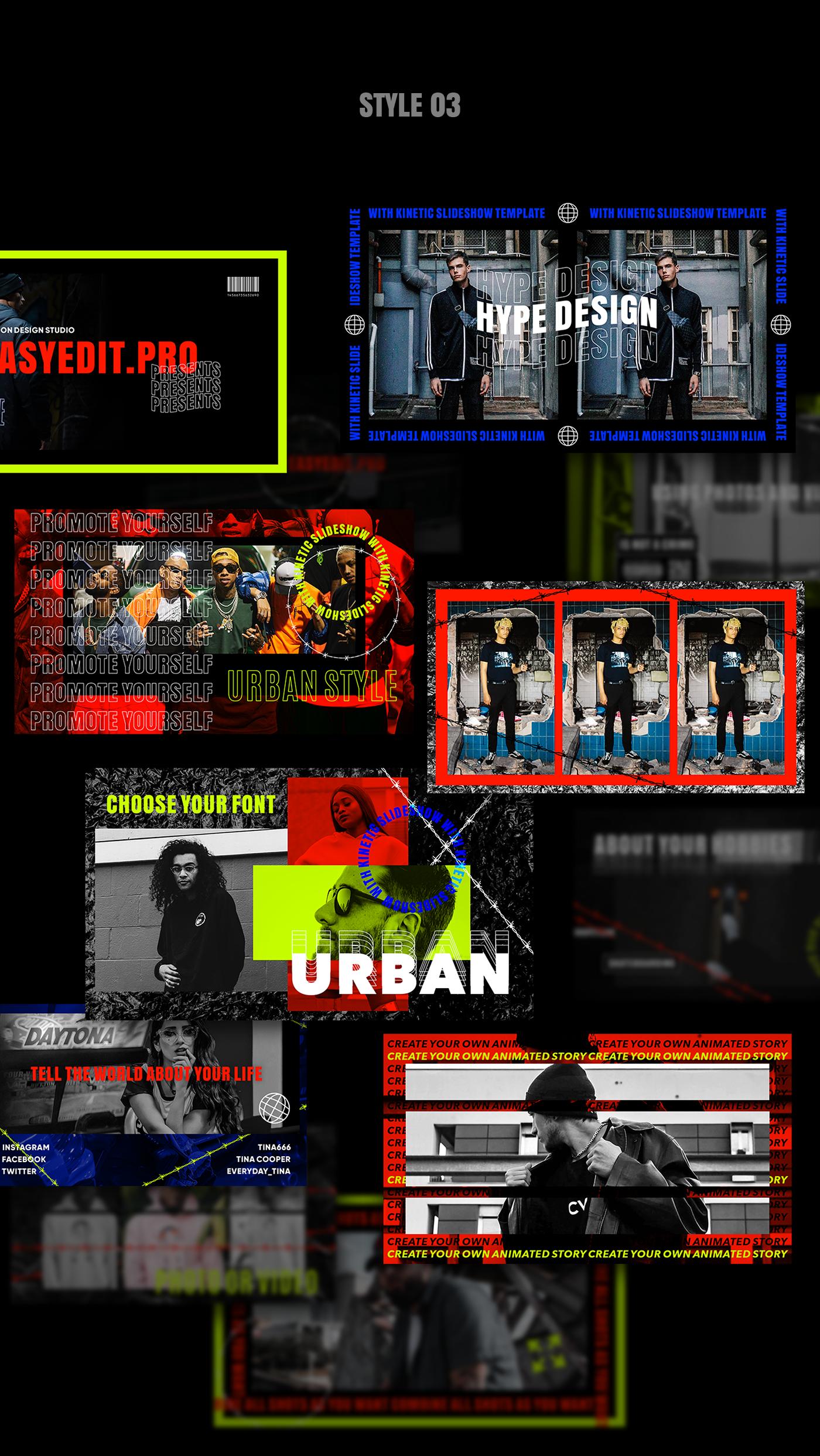 AE脚本-200多个创意文字标题排版时尚宣传视频包装动画工具包 Kinetic Social Pack for Win/Mac破解版插图10