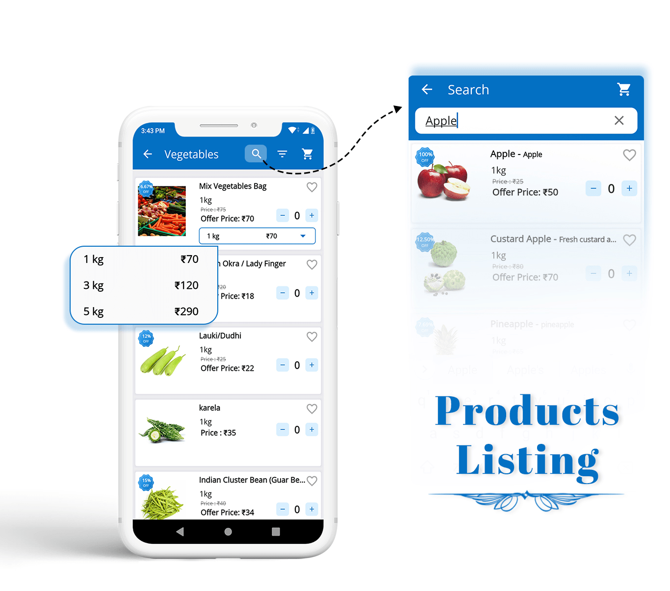 eCart - Grocery, Food Delivery, Fruits & Vegetable store, Full Android Ecommerce App - 7