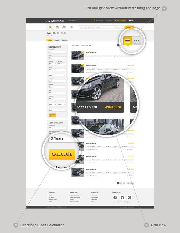 AutoMarket - HTML Vehicle Marketplace Template - 2