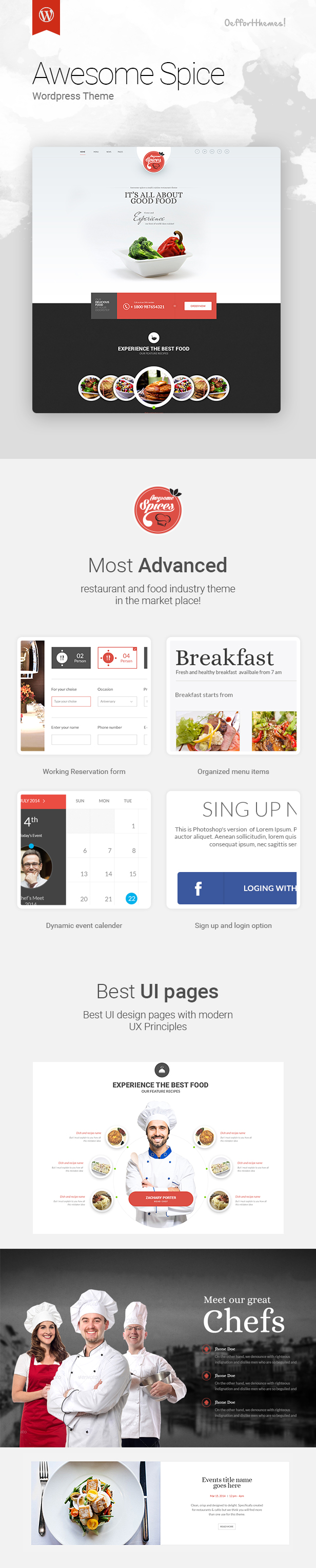 Awesome Spice - Restaurant / Cafe WordPress Theme - 6