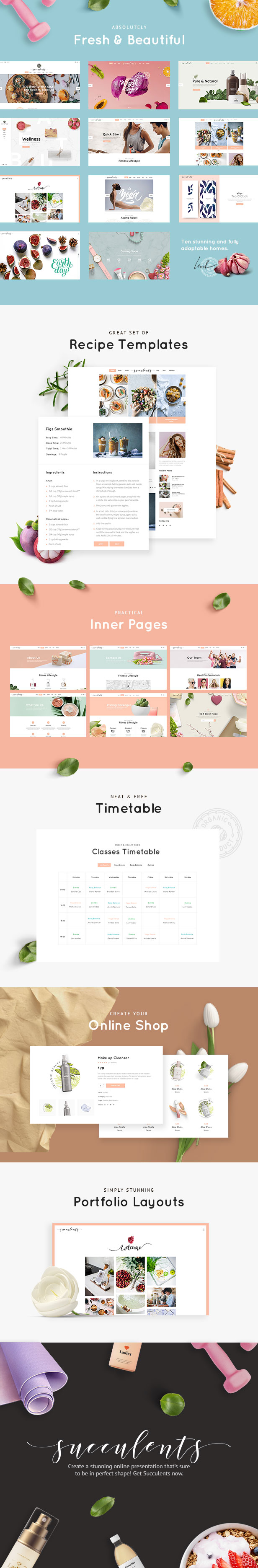 Succulents - Healthy Lifestyle and Wellness Theme - 1