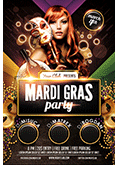 Mardi Gras Party Flyer - 3