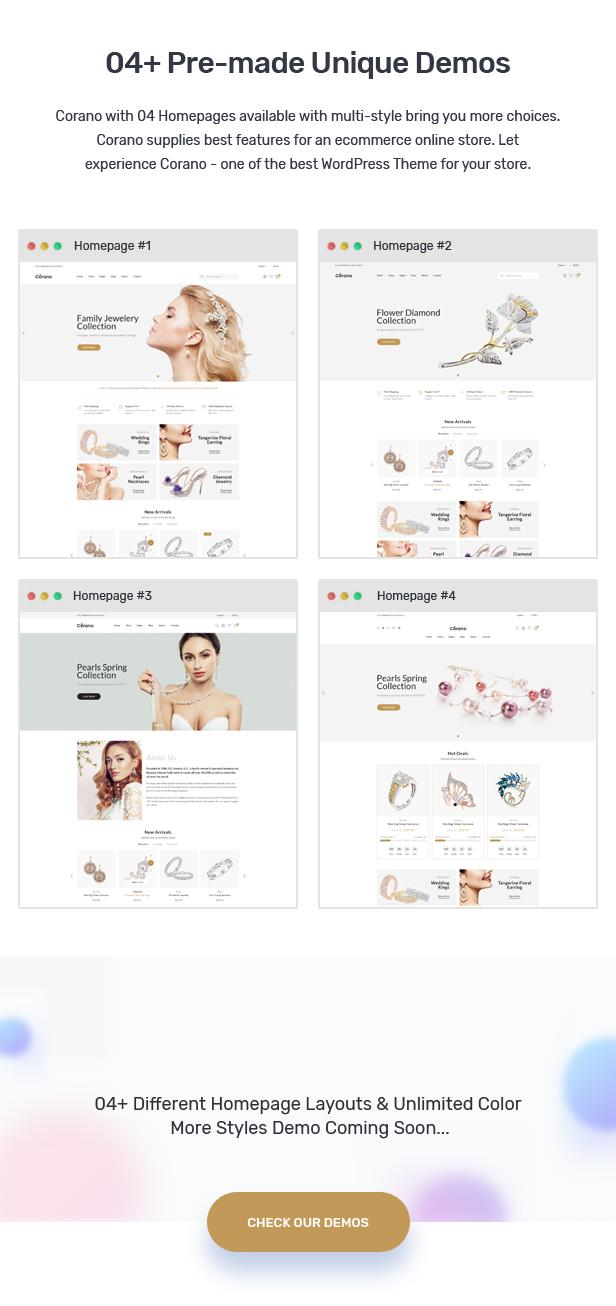 Corano - Jewellery Theme for WooCommerce WordPress 23