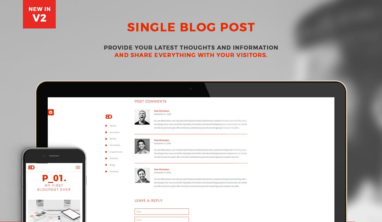 BlakeD - Portfolio & Resume Template - 13
