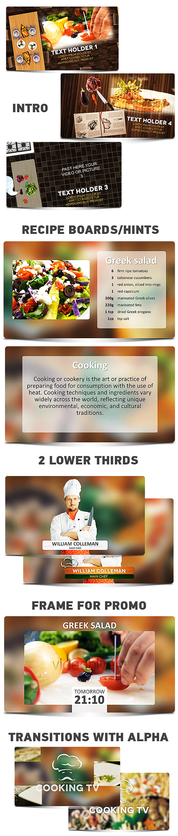 Cooking TV  - After Effects Cook Broadcast Pack - 7