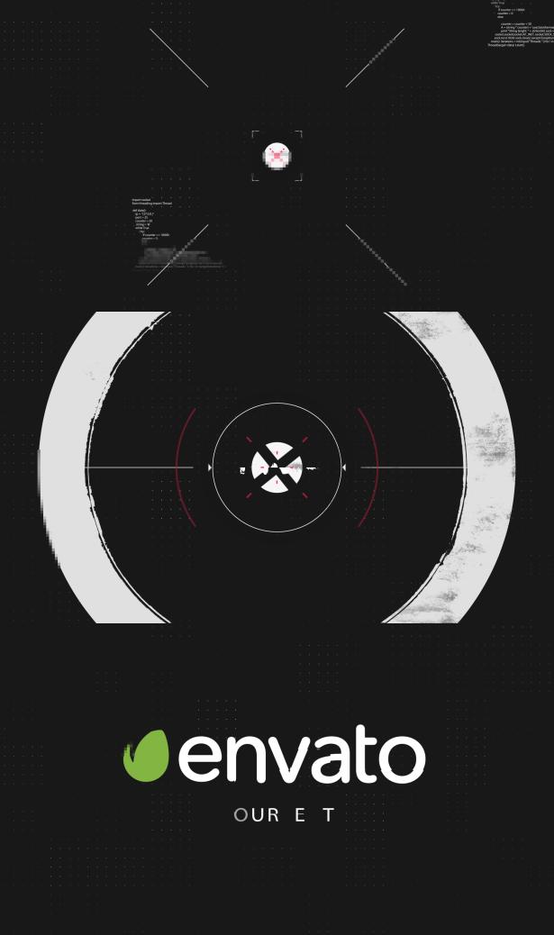 Flat Glitch Intro - 1