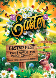 Design Cloud: Easter Event Flyer Template