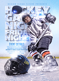 Hockey Game Night Flyer Template