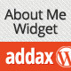 Addax - About Me Widget