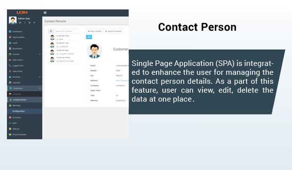 LCRM - Next generation CRM web application - 5