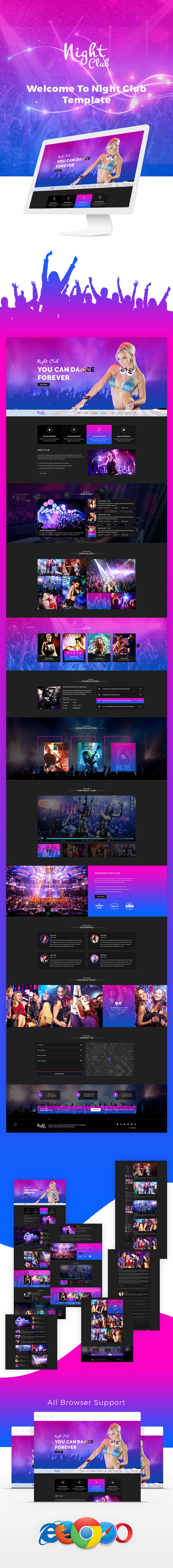 Aveda Night Club- Multipurpose Responsive Template For Disco, Night club, Party & Music - 1