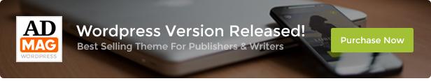 ADMAG - Responsive Blog & Magazine HTML Template - 1