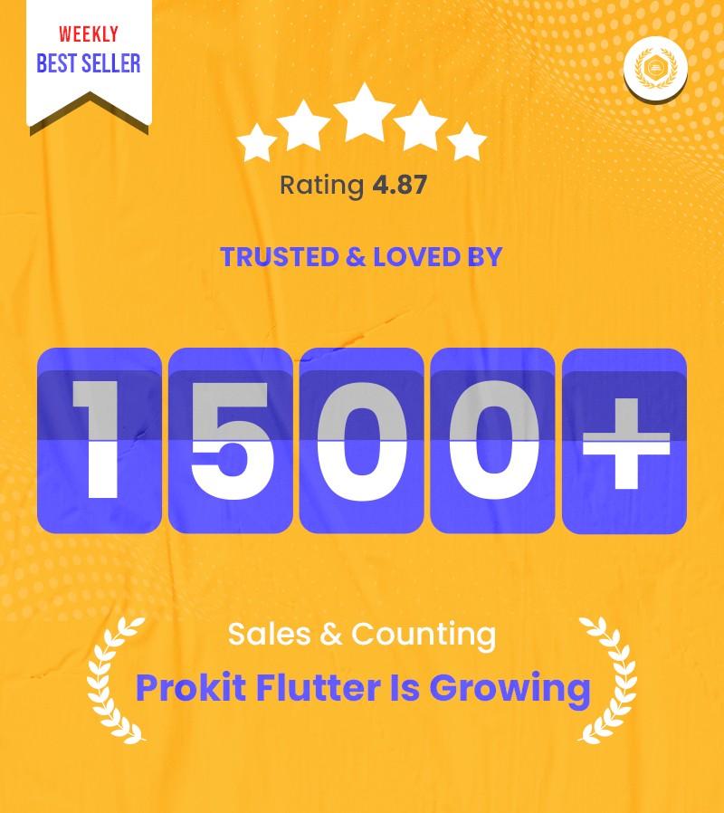 Prokit - Biggest Flutter 2.0 UI Kit - 3