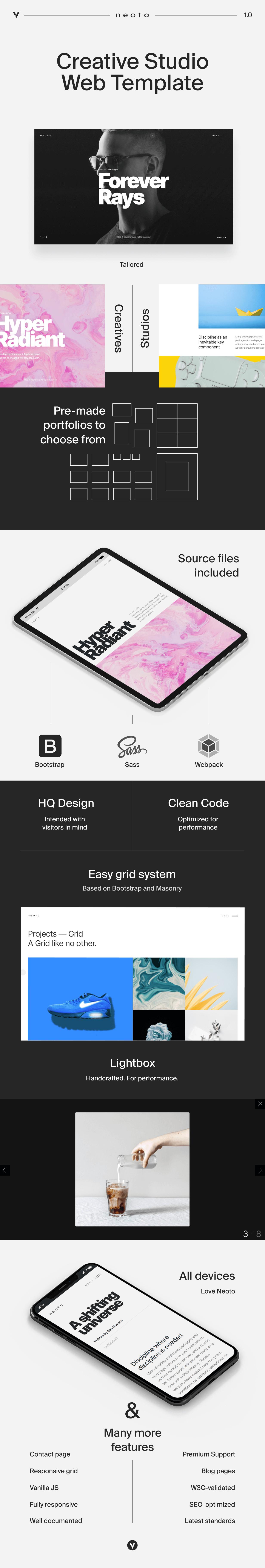 Neoto-Creative Studio投资组合模板