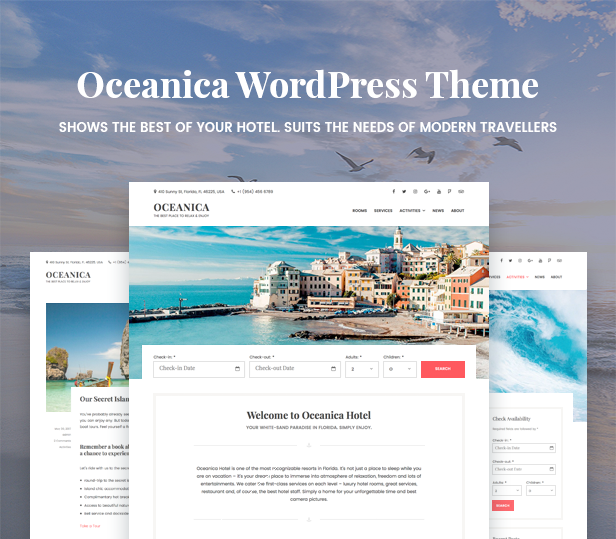 WordPress Hotel Theme - Oceanica - 1