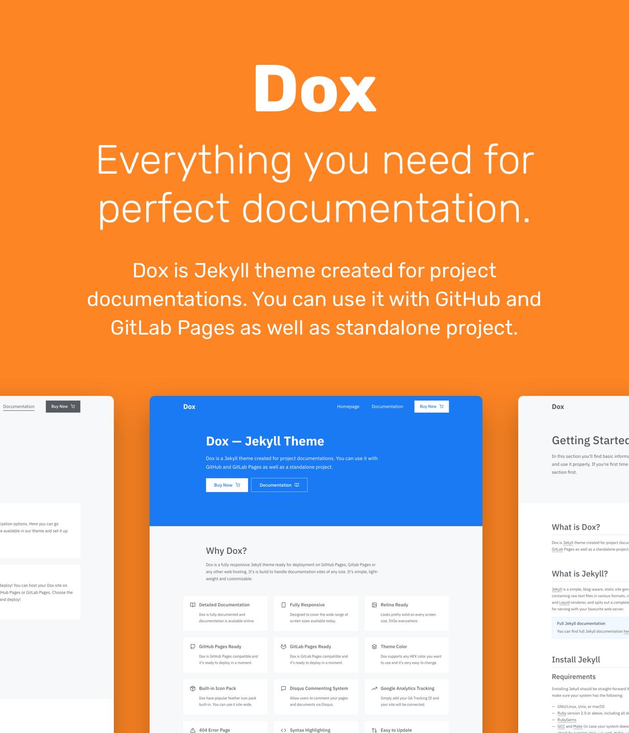 Dox — Jekyll Theme for Project Documentation