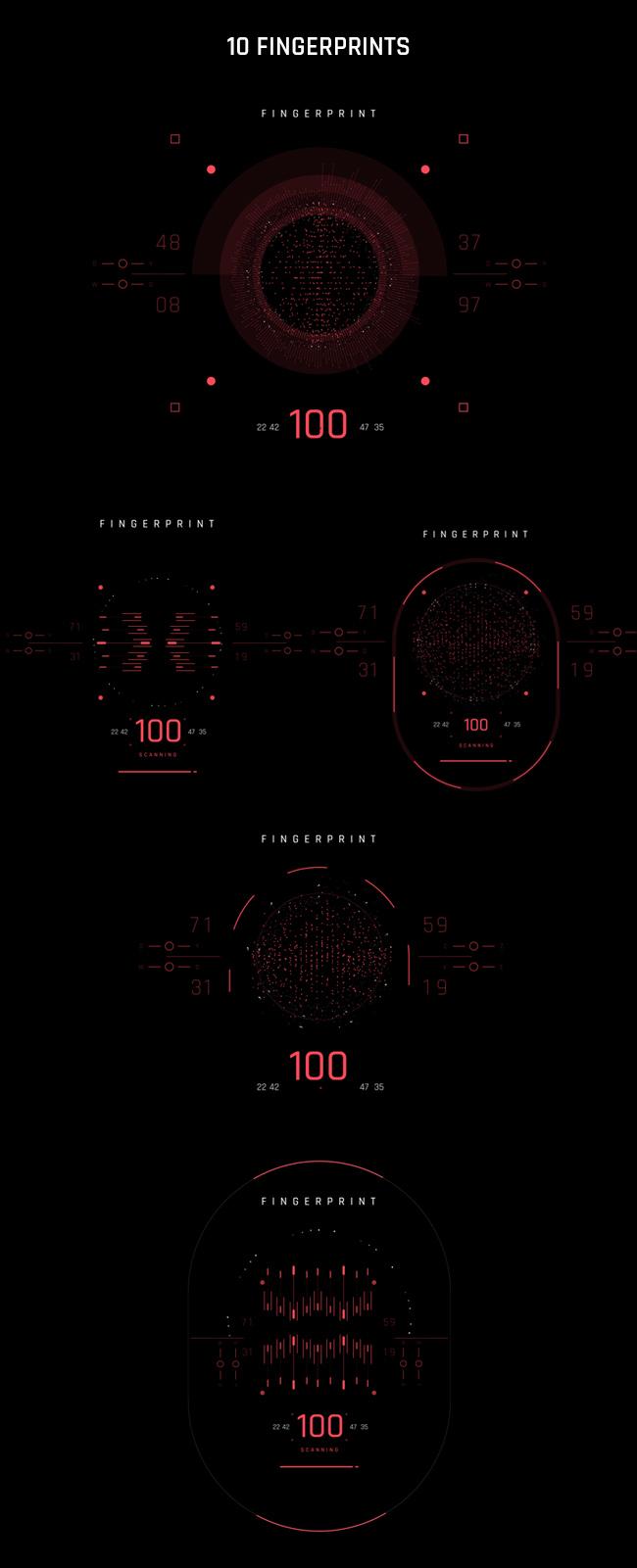 AE脚本-500个HUD高科技赛博朋克UI科幻界面元素动画预设包 Cyberpunk HUD UI 500+ 已修复中文版AE表达式报错插图43