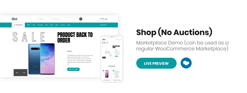 iBid - Multi Vendor Auctions WooCommerce Theme - 8