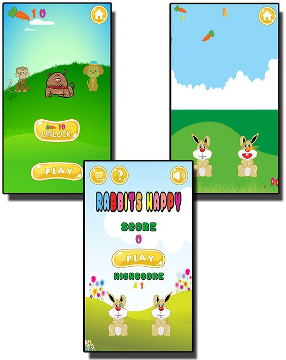 Happy Rabbits - HTML5 Mobile Game - 1
