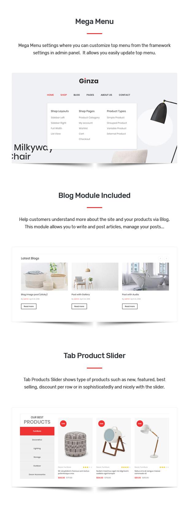 Ginza - Furniture Theme for WooCommerce WordPress 26