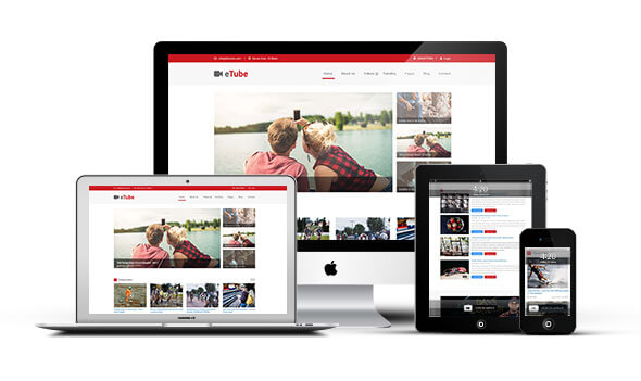 eTube - Video Blog / Magazine / Entertainment Ghost Theme (Bootstrap 4)