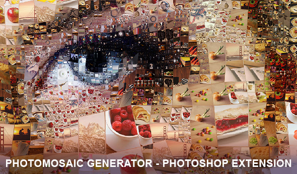 PhotoMosaic Generator Photoshop Extension - Photographic mosaic software generator