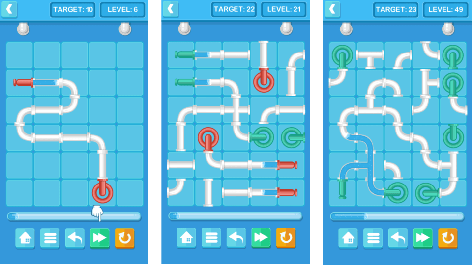 Pipe Mania - HTML5 Puzzle Game (Construct 2/3)