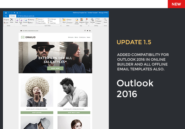 emailio responsive multipurpose email template with online email