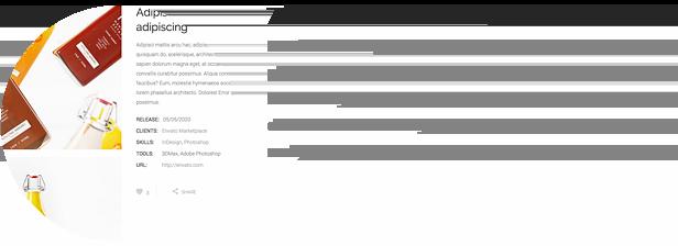 various portfolio single pages