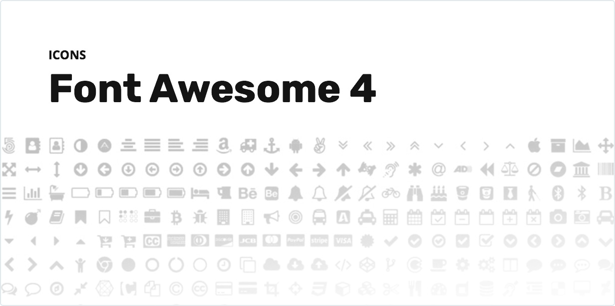 Font Awesome 4 Icons